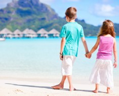 Kids enjoying Bora Bora by carnival cruise.