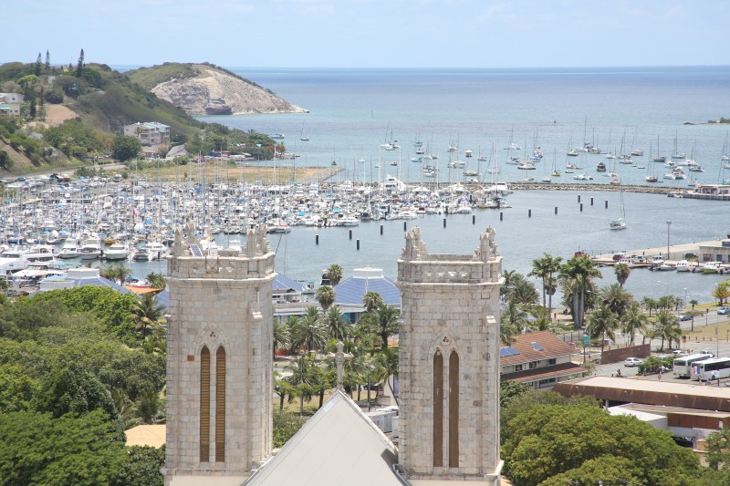 Overlook view of Noumea in New Caledonia.