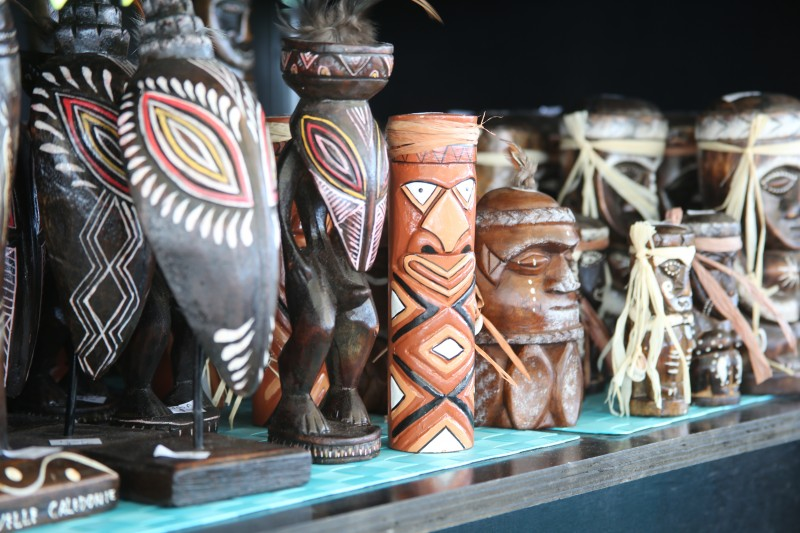 Shopping for local crafts in Noumea