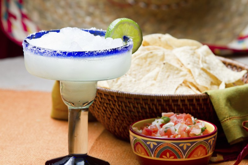 Margarita and Mexican salsa