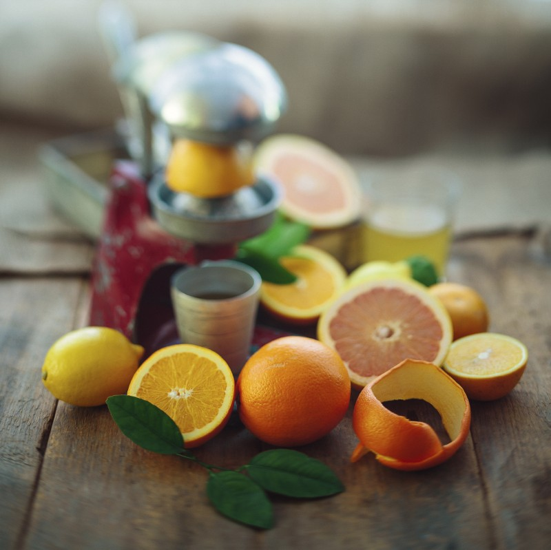 Grapefruits and oranges