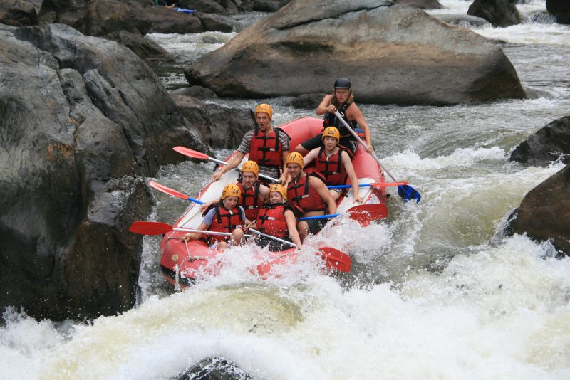 White Water Rafting over the Barron River
