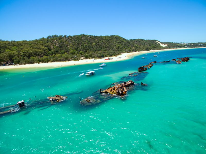 Tangalooma Wrecks in Moreton Island, Queensland